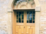 Oak church doors