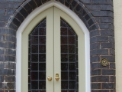 Gothic arch entranc doors