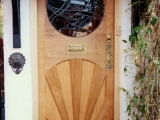 Oak sunburst door