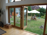 Oak bifold doors