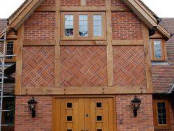 Oak vestibule doors