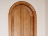 Oak semicircular door