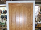 Oak boarded door