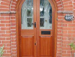 Semi Circular mahogany Doors