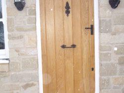 Oak and snow door