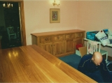 Oak table and sideboard