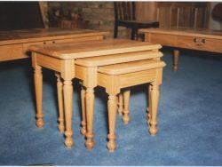 Oak nest of tables