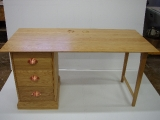 Writing Desk With Copper Handles