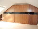 Black walnut and glass wardrobes