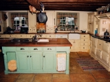 Painted farmhouse kitchen