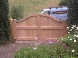 Douglas fir gates