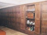 Solid oak panelling