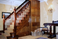 Oak and mahogany staircase