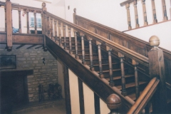Oak farmhouse staircase