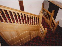 Oak gothic staircase