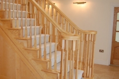 Ash double certail staircase