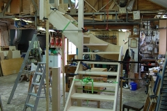 Maple And Glass Staircase construction