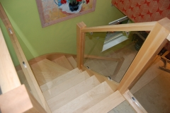 Maple And Glass Staircase