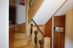 Ash With Wrought Iron Handrail Staircase