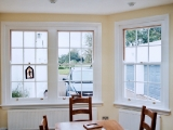 Traditional box sash windows
