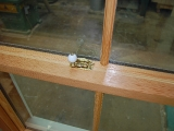 Douglas fir oiled sash window
