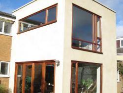 Sapele Asymetrical Windows