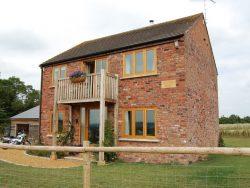 Oak windows in a barn convertion