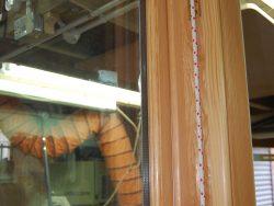 Detail of box sash