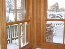 Douglas fir sash window